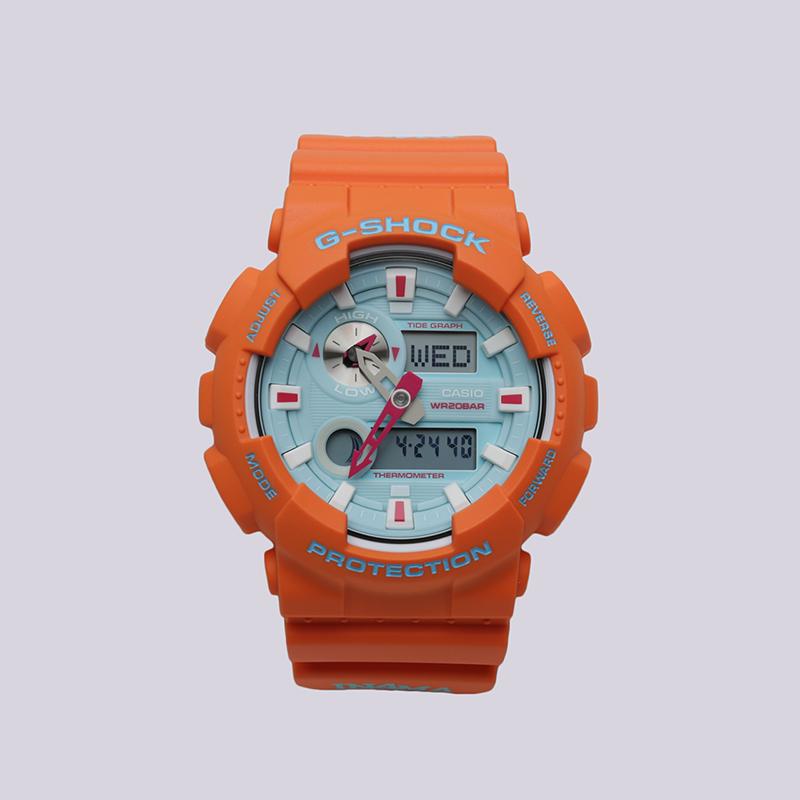 оранжевые  часы casio g-shock gax-100 GAX-100X-4A - цена, описание, фото 1