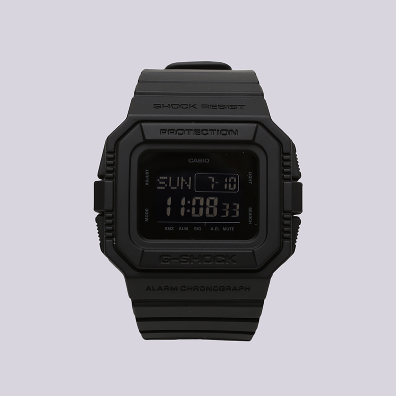 чёрные  часы casio g-shock dw-d5500 DW-D5500BB-1ER - цена, описание, фото 1