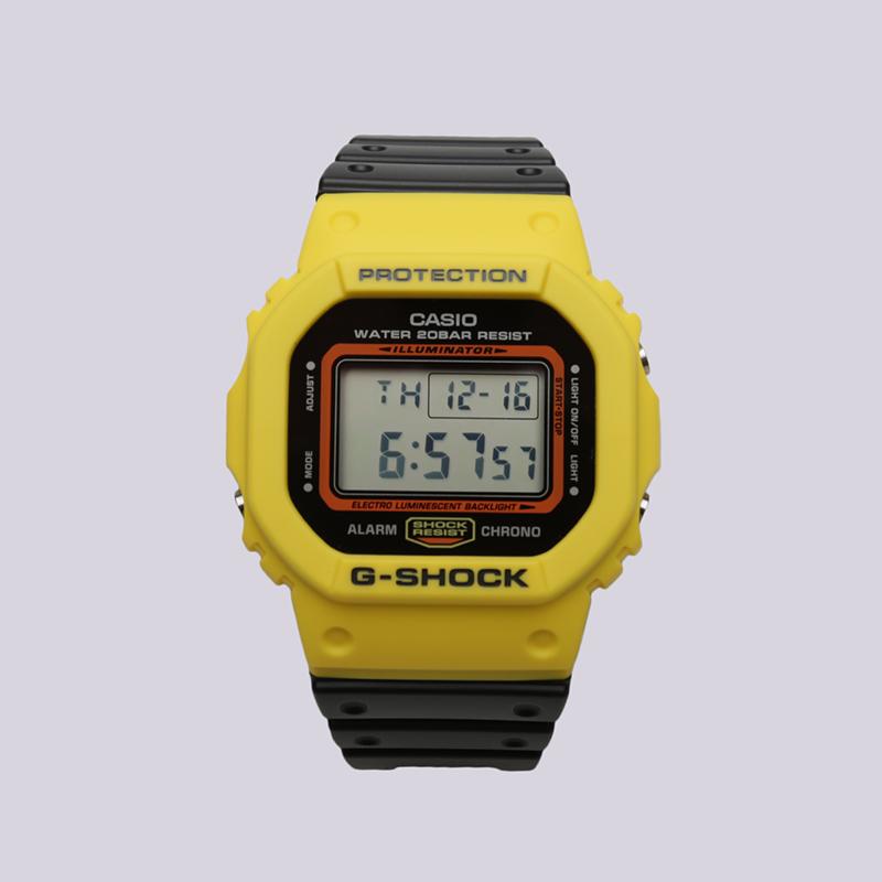 жёлтые, чёрные  часы casio g-shock dw-5600 DW-5600TB-1E - цена, описание, фото 1