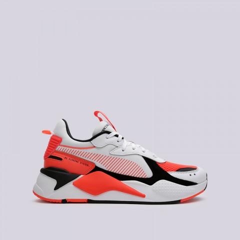 мужские белые, оранжевые  кроссовки puma rs-x reinvention 36957902 - цена, описание, фото 1