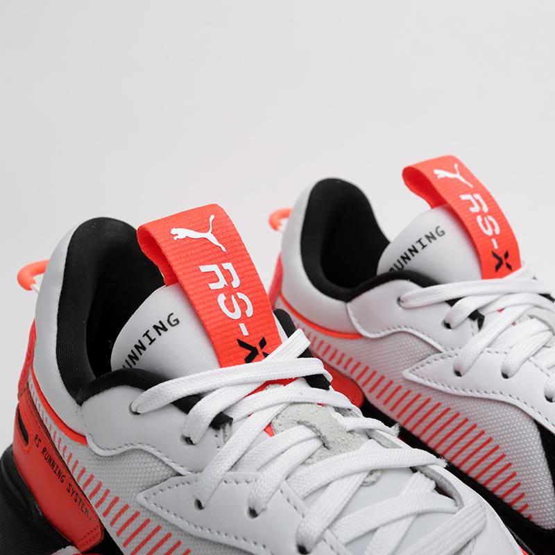 мужские белые, оранжевые  кроссовки puma rs-x reinvention 36957902 - цена, описание, фото 4