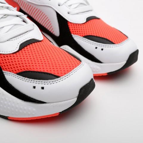 мужские белые, оранжевые  кроссовки puma rs-x reinvention 36957902 - цена, описание, фото 5