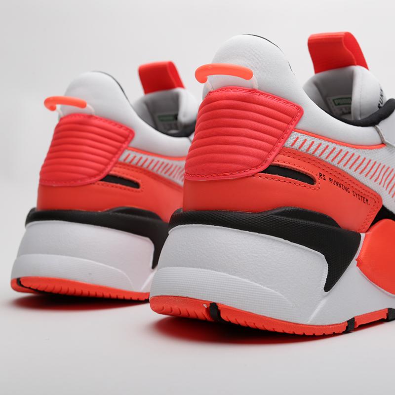 мужские белые, оранжевые  кроссовки puma rs-x reinvention 36957902 - цена, описание, фото 6