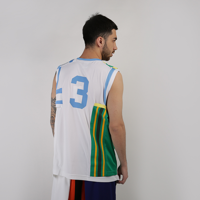 мужскую белую, зеленую  майку nike nikelab collection basketball jersey AR5863-100 - цена, описание, фото 4