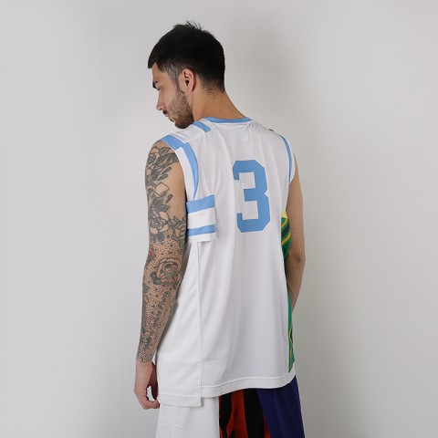 мужскую белую, зеленую  майку nike nikelab collection basketball jersey AR5863-100 - цена, описание, фото 5