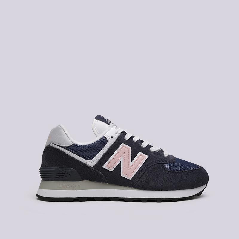 e1435eec95249c женские синие кроссовки new balance 574 WL574BTC/B - цена, описание, фото 1