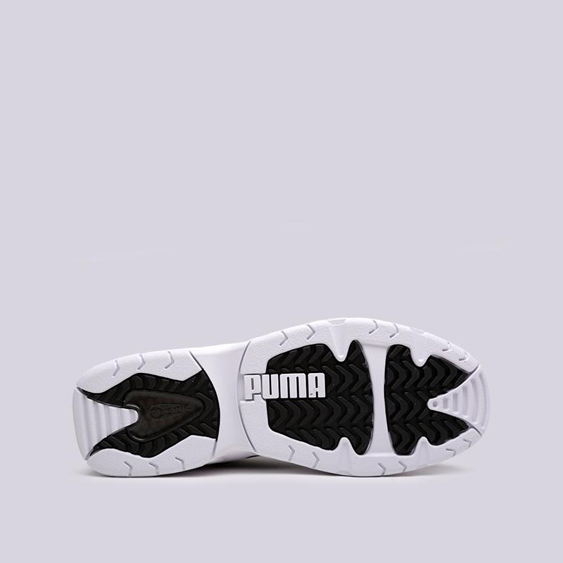 мужские чёрные, белые  кроссовки puma source mid bracket 37022301 - цена, описание, фото 2