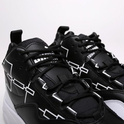 мужские чёрные, белые  кроссовки puma source mid bracket 37022301 - цена, описание, фото 4