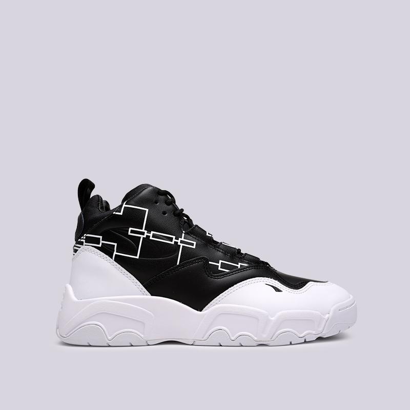 мужские чёрные, белые  кроссовки puma source mid bracket 37022301 - цена, описание, фото 1