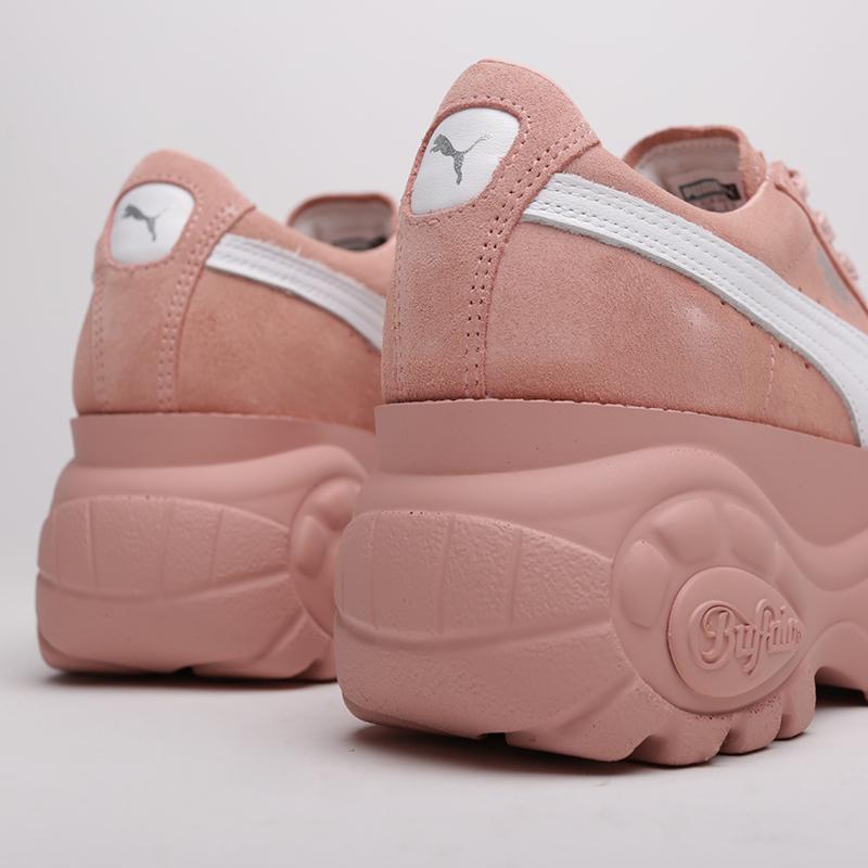 женские розовые  кроссовки puma suede classic x buffalo 36849905 - цена, описание, фото 6