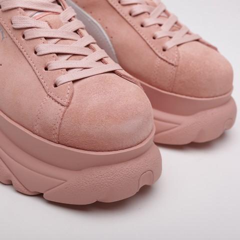 женские розовые  кроссовки puma suede classic x buffalo 36849905 - цена, описание, фото 4