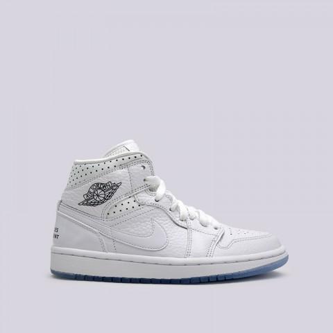 женские белые  кроссовки jordan wmns 1 mid CI9100-100 - цена, описание, фото 1