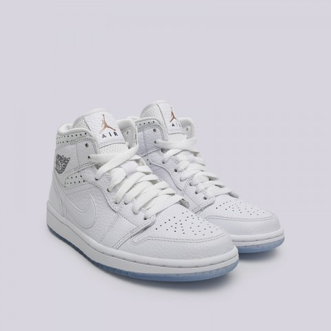женские белые  кроссовки jordan wmns 1 mid CI9100-100 - цена, описание, фото 3