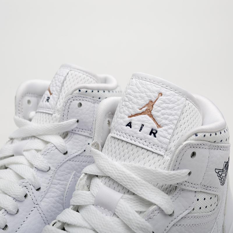 женские белые  кроссовки jordan wmns 1 mid CI9100-100 - цена, описание, фото 6