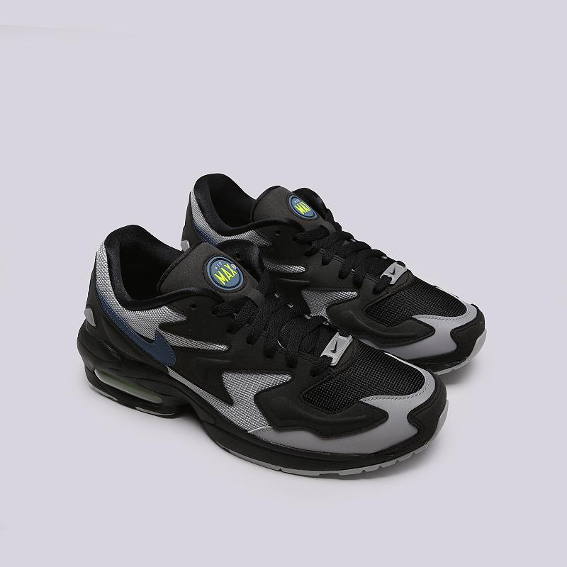 3402ca0b10f мужские черные, серые кроссовки nike air max 2 light AO1741-002 - цена,