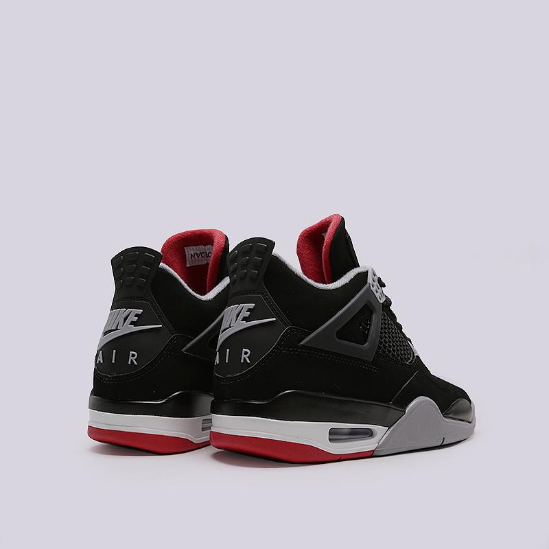 08ccf8a9 мужские черные кроссовки jordan 4 retro 308497-060 - цена, описание, фото 5