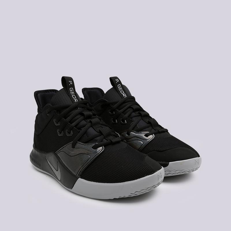 мужские чёрные  кроссовки nike pg 3 AO2607-003 - цена, описание, фото 3