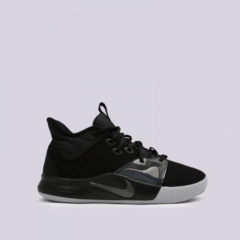 мужские чёрные  кроссовки nike pg 3 AO2607-003 - цена, описание, фото 1