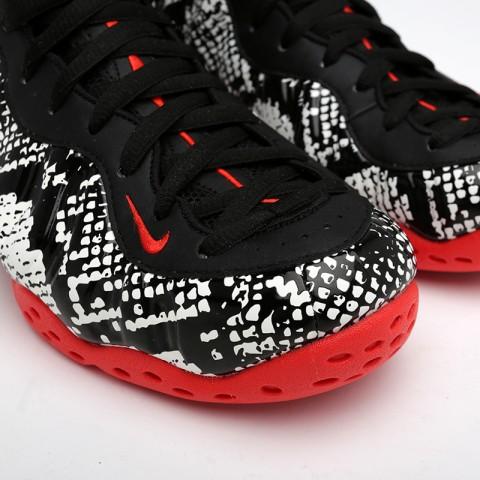 мужские чёрные  кроссовки nike air foamposite one 314996-101 - цена, описание, фото 4