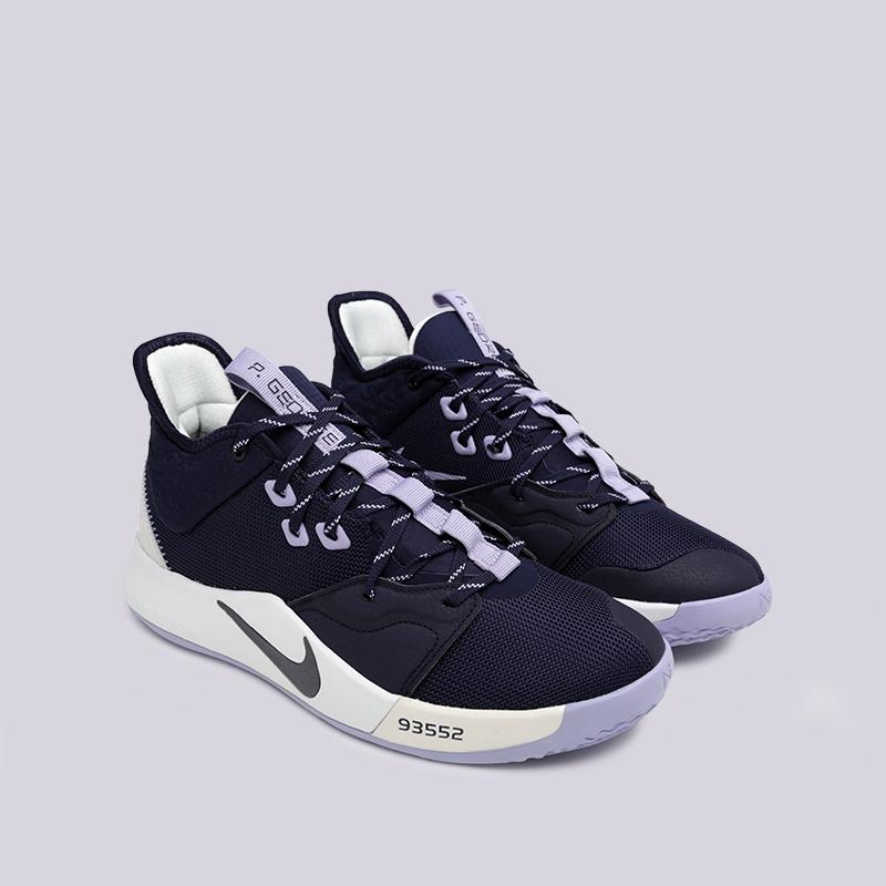 мужские синие  кроссовки nike pg 3 AO2607-901 - цена, описание, фото 3