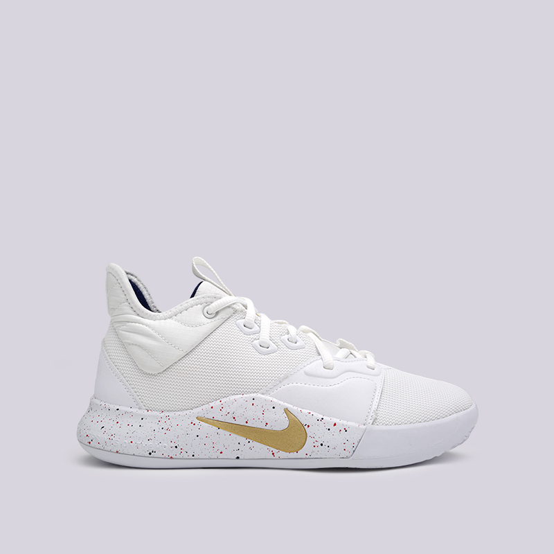 мужские белые  кроссовки nike pg 3 AO2607-100 - цена, описание, фото 1