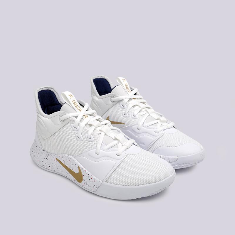 мужские белые  кроссовки nike pg 3 AO2607-100 - цена, описание, фото 3
