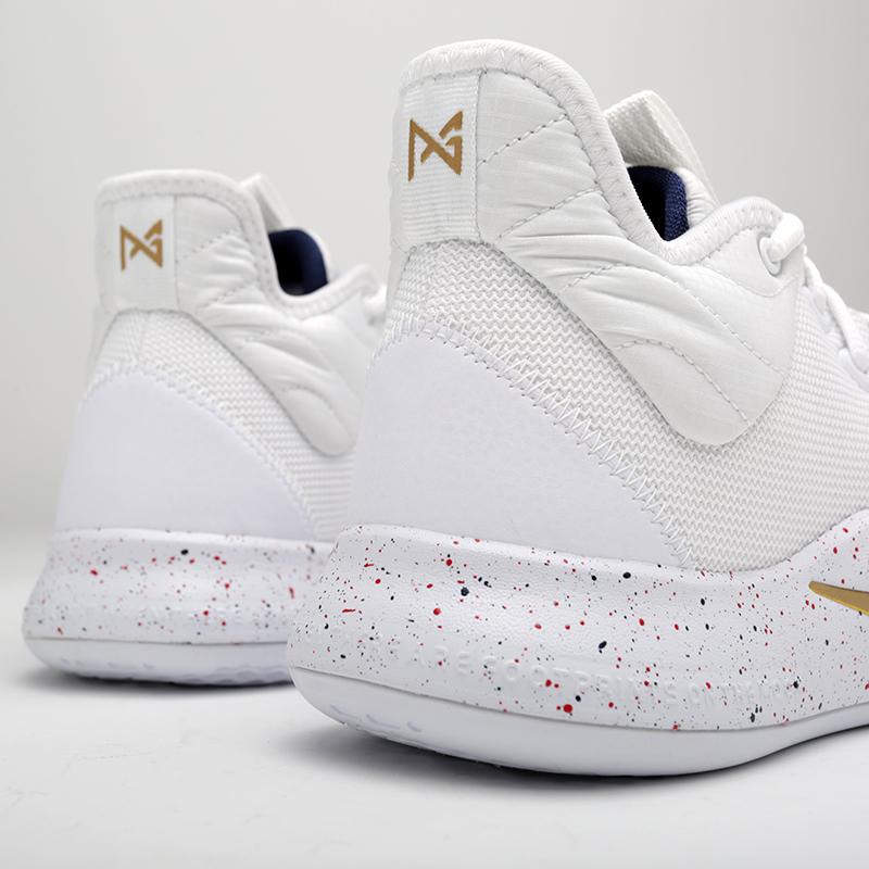 мужские белые  кроссовки nike pg 3 AO2607-100 - цена, описание, фото 4
