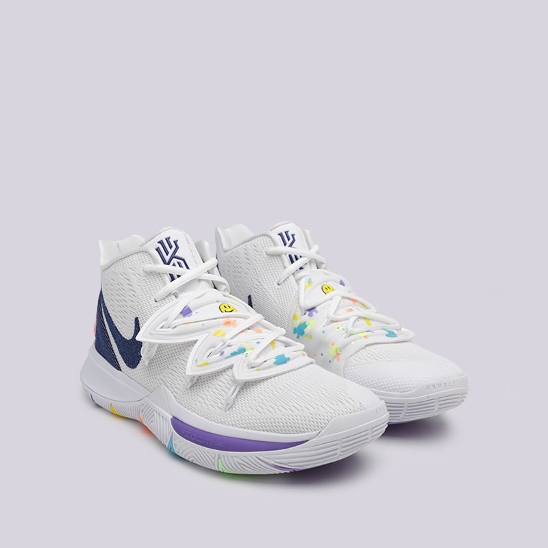 мужские белые  кроссовки nike kyrie 5 AO2918-101 - цена, описание, фото 3