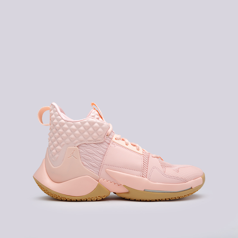 мужские розовые  кроссовки jordan why not zero.2 AO6219-600 - цена, описание, фото 1