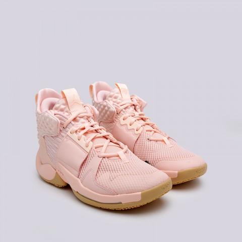 мужские розовые  кроссовки jordan why not zero.2 AO6219-600 - цена, описание, фото 2