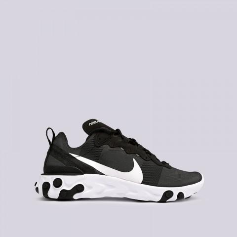 мужские чёрные  кроссовки nike react element 55 BQ6166-003 - цена, описание, фото 1