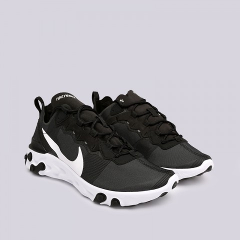 мужские чёрные  кроссовки nike react element 55 BQ6166-003 - цена, описание, фото 3