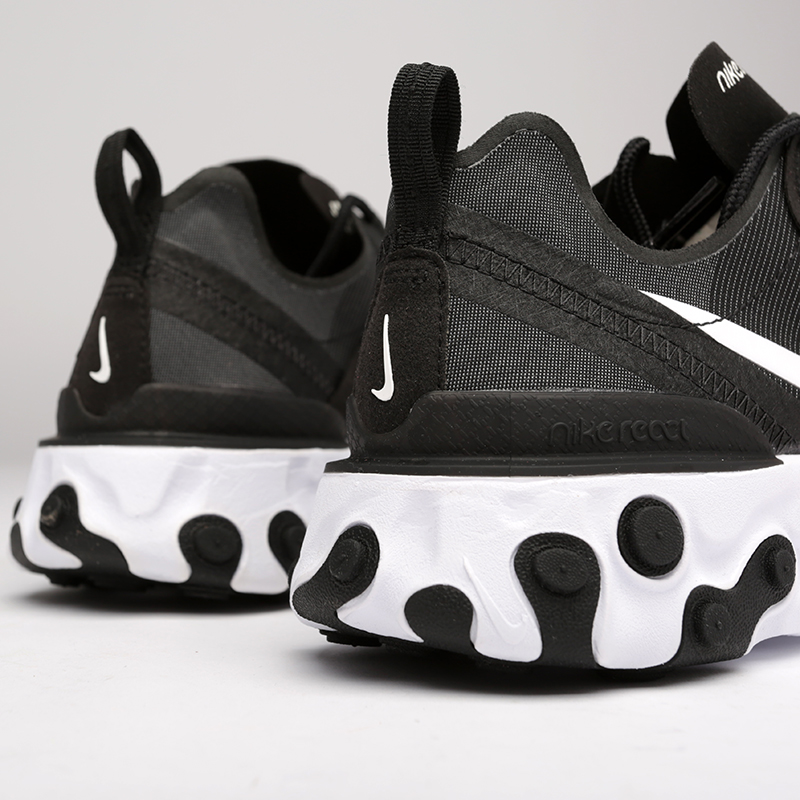 мужские чёрные  кроссовки nike react element 55 BQ6166-003 - цена, описание, фото 4