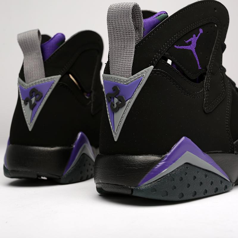 мужские чёрные  кроссовки jordan 7 retro 304775-053 - цена, описание, фото 5