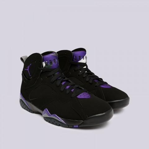 мужские чёрные  кроссовки jordan 7 retro 304775-053 - цена, описание, фото 3
