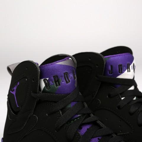 мужские чёрные  кроссовки jordan 7 retro 304775-053 - цена, описание, фото 6