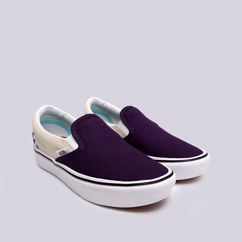 фиолетовые  кеды vans comfycush slip VA3WMDVO3M - цена, описание, фото 3