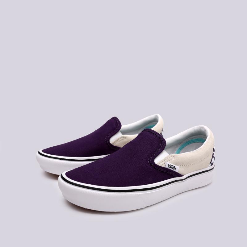 фиолетовые  кеды vans comfycush slip VA3WMDVO3M - цена, описание, фото 4