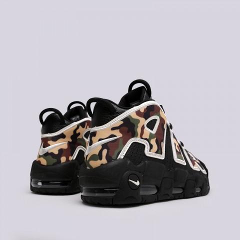 мужские чёрные, камуфляж  кроссовки nike air more uptempo '96 qs su19 CJ6122-001 - цена, описание, фото 4