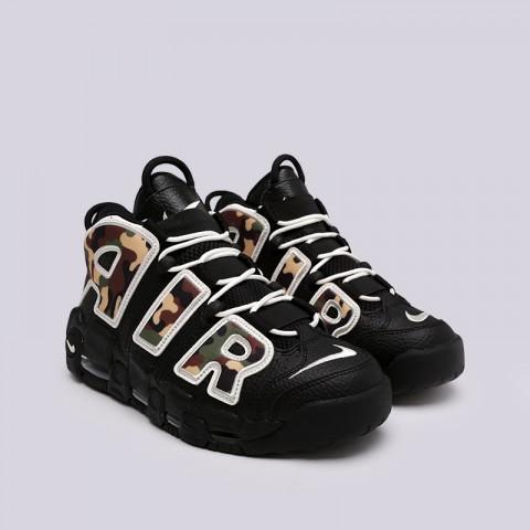 мужские чёрные, камуфляж  кроссовки nike air more uptempo '96 qs su19 CJ6122-001 - цена, описание, фото 3