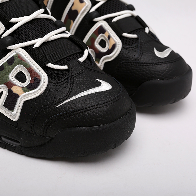 мужские чёрные, камуфляж  кроссовки nike air more uptempo '96 qs su19 CJ6122-001 - цена, описание, фото 6
