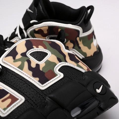 мужские чёрные, камуфляж  кроссовки nike air more uptempo '96 qs su19 CJ6122-001 - цена, описание, фото 5