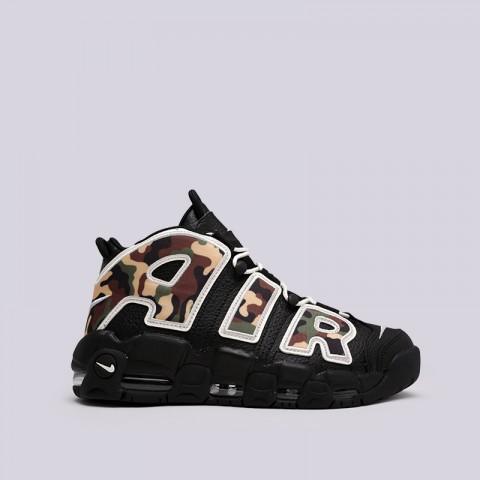 мужские чёрные, камуфляж  кроссовки nike air more uptempo '96 qs su19 CJ6122-001 - цена, описание, фото 1