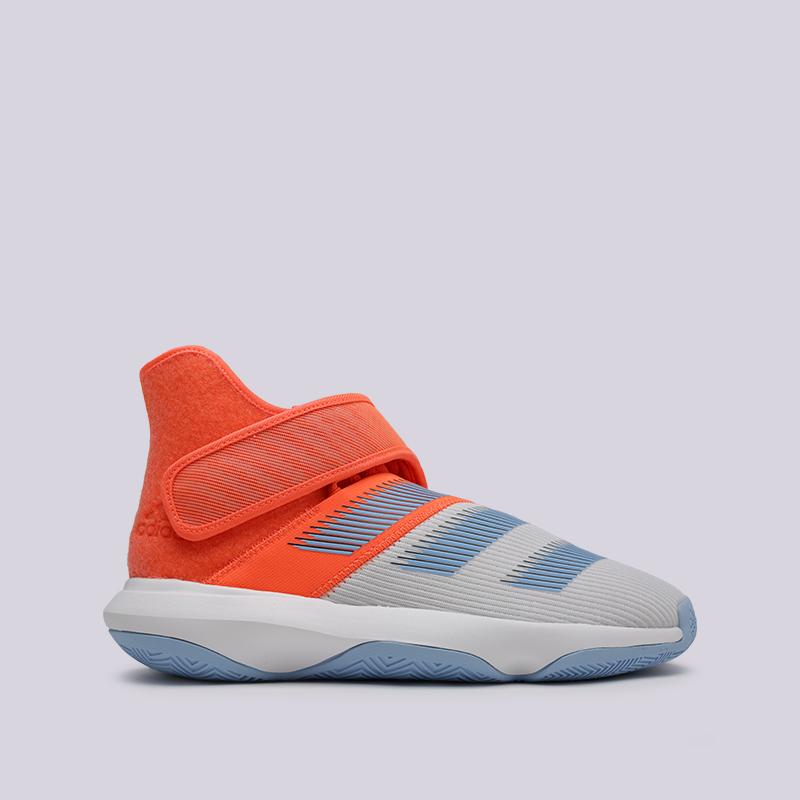 мужские оранжевые, серые  кроссовки adidas harden b/e 3 F97189 - цена, описание, фото 1