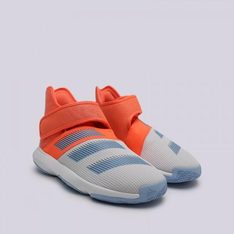 мужские оранжевые, серые  кроссовки adidas harden b/e 3 F97189 - цена, описание, фото 3