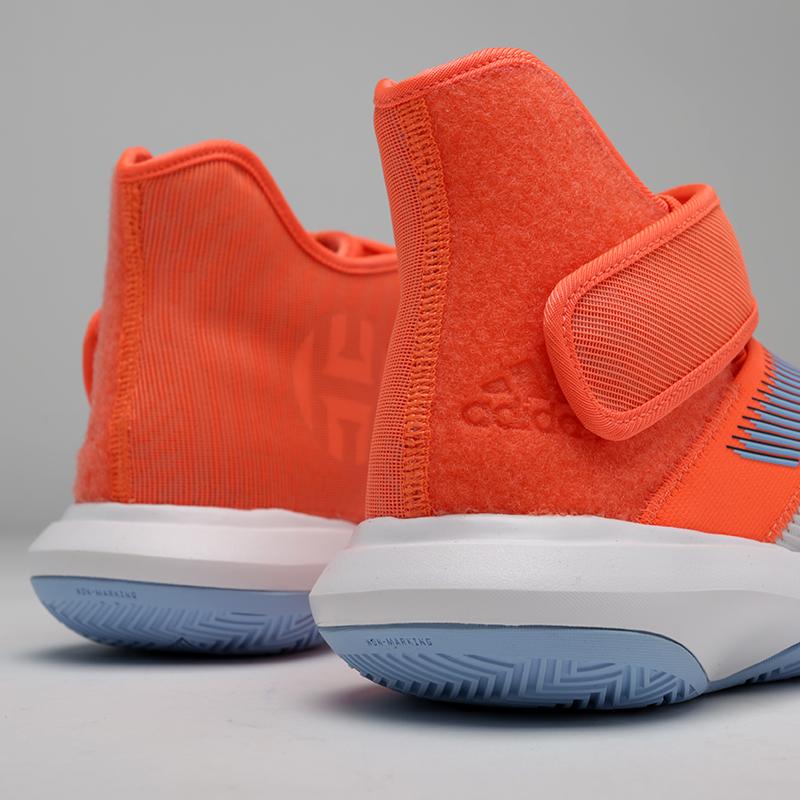 мужские оранжевые, серые  кроссовки adidas harden b/e 3 F97189 - цена, описание, фото 6
