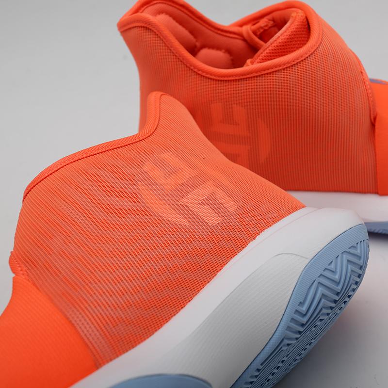 мужские оранжевые, серые  кроссовки adidas harden b/e 3 F97189 - цена, описание, фото 7