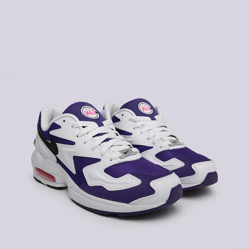мужские белые, фиолетовые  кроссовки nike air max2 light AO1741-103 - цена, описание, фото 3