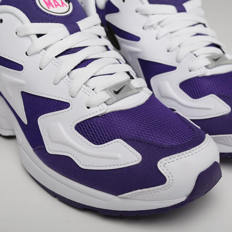 мужские белые, фиолетовые  кроссовки nike air max2 light AO1741-103 - цена, описание, фото 4