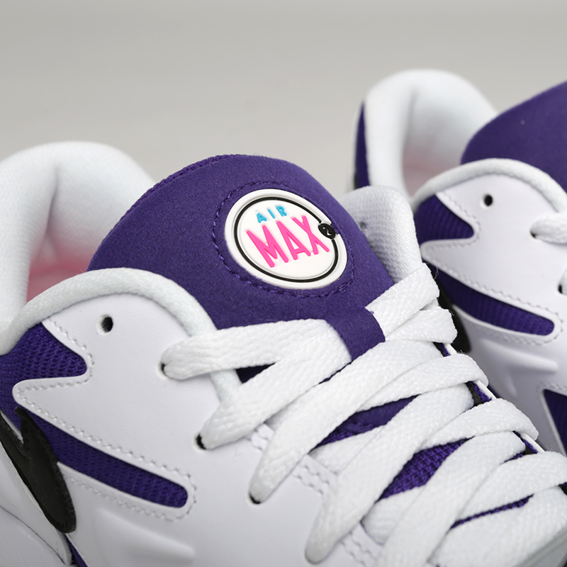 мужские белые, фиолетовые  кроссовки nike air max2 light AO1741-103 - цена, описание, фото 5